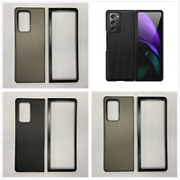For Samsung Galaxy Z Fold 2 5G Carbon Fiber Texture Leather Phone Case Cover