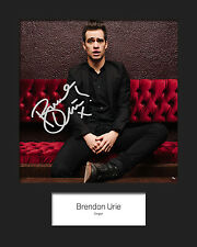 BRENDON URIE #2 10x8 SIGNED Mounted Photo Print - FREE DELIVERY