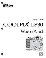 Nikon CoolPix L830 Digital Camera User Guide Instruction  Manual