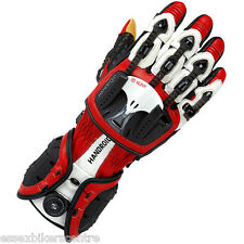 Knox Handroid Motorcycle Race Gloves Ce Approved Red Latest Model fast free post