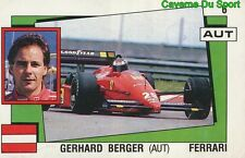 006 GERHARD BERGER AUSTRIA FERRARI F1 STICKER SUPERSPORT 1988 PANINI RARE & NEW