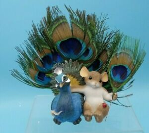 Charming Tails~Proud As A Peacock of You~Mouse Figurine~Fitz and Floyd