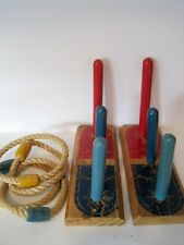 Gold Medal Ring Toss Wooden Vintage Toy 4 ropes