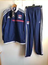 adidas Olympique Lyonnais FC Football Kids Tracksuit - 15-16 Years - Navy - New