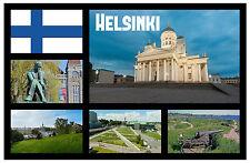 HELSINKI,FINLANDIA RECUERDO ORIGINAL IMÁN DE NEVERA MONUMENTOS/CIUDADES NAVIDAD