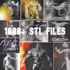 1000+ 3D pack Print File STL Printer 3d Marvel Batman Iron Man Mask CNC