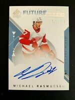 2018-19 SP Authentic #196 Michael Rasmussen FW AU/949* RC