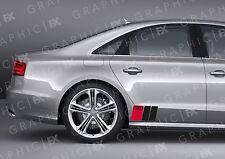X2 Premium Audi Sport Logotipo Adhesivos Coche Carrocería-S1 S2 S3 S4 TT R8 S5 S6 A4 A3