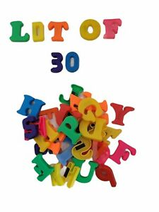 Fridge Magnetic Letters Numbers ABC Alphabet Plastic Toy Learning Lot Of 30 D3