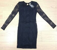 GENUINE Ladies Womens black lace Moder party dress Size 6 EU 32 NEW WITH TAGS