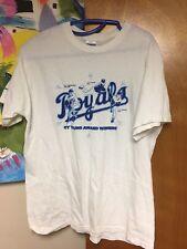 KANSAS CITY ROYALS CY YOUNG AWARD WINNERS T-shirt M Greinke Cone RARE White