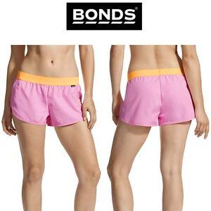 Womens Bonds Sexy Berry Active Running Shorts Fitness Gym Training Sportswear