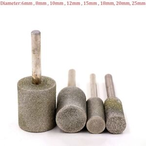 8mm-25mm Rotary Diamond Burr Grinding Engraving Bit 6mm Shank Grit 80 For Drill