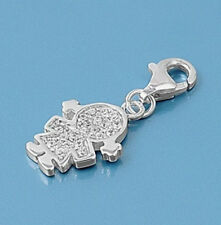 USA Seller Girl Charm For Add On to Bracelet Sterling Silver 925 Jewelry Gift