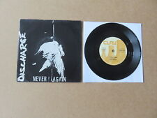 """DISCHARGE Never Again CLAY RECORDS 7"""" 1982 UK ORIGINAL 1ST PRESSING CLAY6"""
