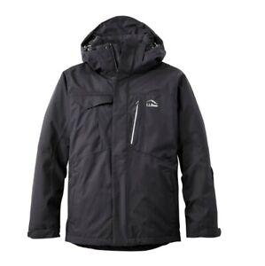 L.L.Bean Mens Large L Black Carrabassett Ski Snow Winter Jacket MISSING HOOD