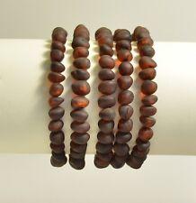 Lot 5 wholesale Natural Baltic amber baroque cherry bracelet  25g c-2213