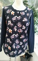 LANDS END pretty blue floral top - size Small - immaculate