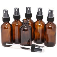 5-100ML Empty Amber Glass Bottle Essential Oil Mist Spray Container Case Flowery