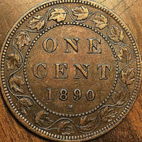 1890H CANADA LARGE CENT PENNY LARGE 1 CENT COIN - Excellent example!