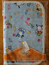 Portable Baby Changing Pad - Blue Puppy Print