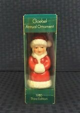Vintage Goebel 1980 Third Edition Ceramic Christmas Ornament Original Box