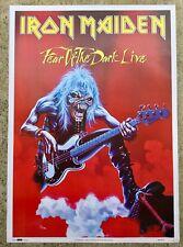 AFFICHE IRON MAIDEN FEAR OF THE DARK LIVE 1993 MADE IN ENGLAND SPLASH
