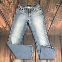 Women's Theory Luca Distressed Washed Straight Leg Jean 8 Stretch Made In Italy