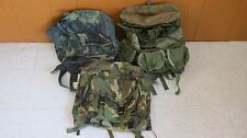 LOT OF 3 Military Rucksacks, Day Bags, Backpacks w/ Straps Canvas Nylon Bags