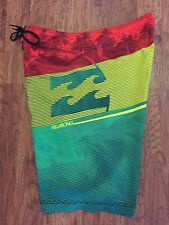Mens BILLABONG Hawaiian Reggae Jamaica Rasta Surf Surfing Board Shorts Trunks 34