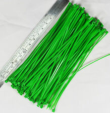 50pcs 150mm Nylon Plastic Zip Trim Wrap Cable Loop Ties Wire Self-Locking Green