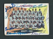 1960 Topps Card #208 Signed 1959 Chicago White Sox Team Card 9 Autographs