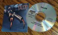 TALON CD SELF TITLED ALBUM import FRONTIER RECORDS RADIO STATION DJ PROMO 2002
