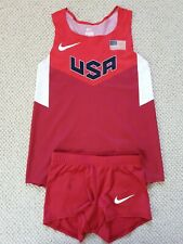 Nike Pro Elite 2012 Team USA London Olympic Track Singlet & Boy Short Women's S