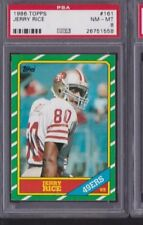 JERRY RICE 1986 TOPPS ROOKIE PSA 8!!