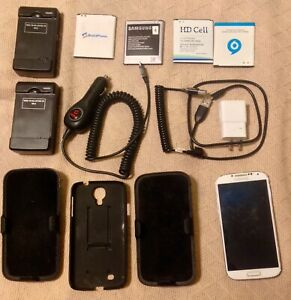 Samsung Galaxy S4 SCH-I545 - 16GB - Frost White (Verizon) Smartphone with Extras