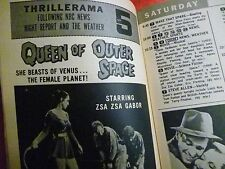 Chicago August 10 TV GUIDE 1963 I'VE GOT A SECRET Queen of Outer Space movie ad