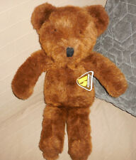 "Vintage Alresford Brown Bear with tags, England 19"" tall"