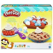 Kids Play Doh Pies Play Set Baking Pretend Plate Fruit Basket Preschool Toy New