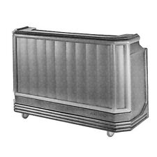 "Cambro Bar730110 72-3/4"" Portable Bar (Black)"