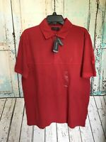 Nautica Red Short Sleeve Men's Polo Shirt Size L Large