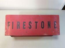 Vintage Metal Firestone Tire Display Stand Rack Single Tire Garage Mechanic E6