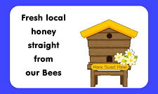 21 HONEY, BEE KEEPING,PERSONALISED GLOSSY CRAFT STICKERS, (219)