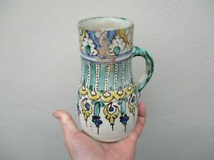 An Antique Turkish/Persian Hand Painted Jug 18/19th Century?