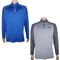 Under Armour HeatGear 1/4 Zip Long Sleeve Pullover Men's Sizes S M XL Blue GrayC