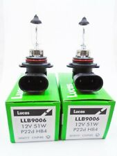 2 x Lucas LLB9006 HB4 P22D Car Headlamp HeadLight FogLight Bulb Lamp 12V 51W
