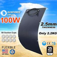 100W 12V Black Silicon Flexible Solar Panel Generator Power Mono Charging Kit