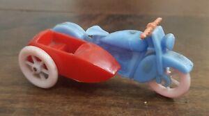 antique HARLEY-DAVIDSON w/ SIDECAR bakelite MOTORBIKE vintage ARGENTINA 1950 TOY