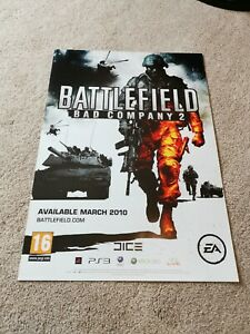ORIGINAL Genuine Battlefield 2 Bad Company PS3 Launch Game Poster FREE POSTAGE
