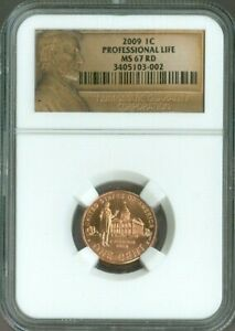 2009 LINCOLN CENT Professional Life NGC MS67 Quality✔️